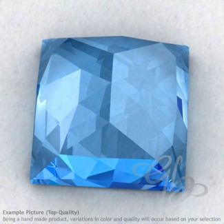 Swiss Blue Topaz Square Shape Calibrated Cabochons