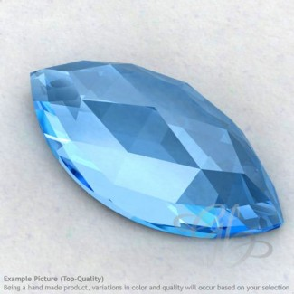 Swiss Blue Topaz Marquise Shape Calibrated Cabochons