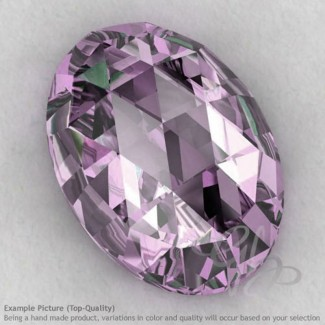 Pink Amethyst Oval Shape Calibrated Cabochons