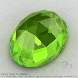 Peridot Oval Shape Calibrated Cabochons