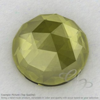 Olive Quartz Round Shape Calibrated Cabochons