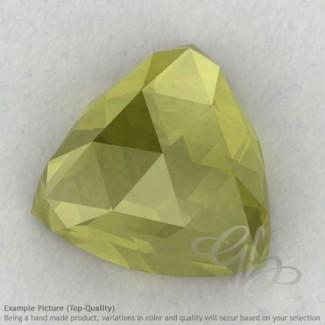 Olive Quartz Trillion Shape Calibrated Cabochons