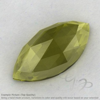 Olive Quartz Marquise Shape Calibrated Cabochons