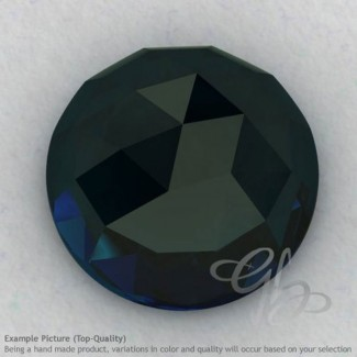 London Blue Topaz Round Shape Calibrated Cabochons