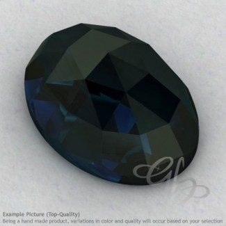 London Blue Topaz Oval Shape Calibrated Cabochons