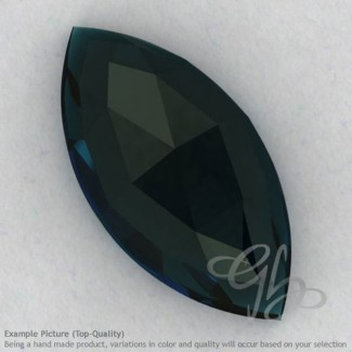 London Blue Topaz Marquise Shape Calibrated Cabochons
