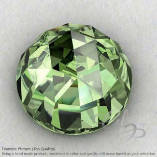 Green Amethyst Round Shape Calibrated Cabochons