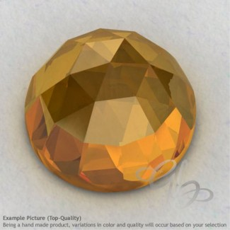 Citrine Round Shape Calibrated Cabochons