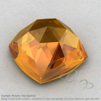 Citrine Square Cushion Shape Calibrated Cabochons