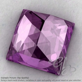 Brazilian Amethyst Square Shape Calibrated Cabochons