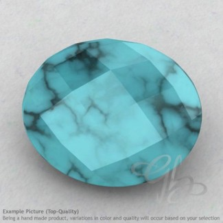 Turquoise Oval Shape Calibrated Briolettes