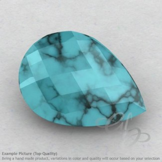 Turquoise Pear Shape Calibrated Briolettes