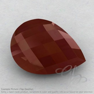 Red Onyx Pear Shape Calibrated Briolettes
