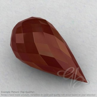 Red Onyx Drops Shape Calibrated Briolettes