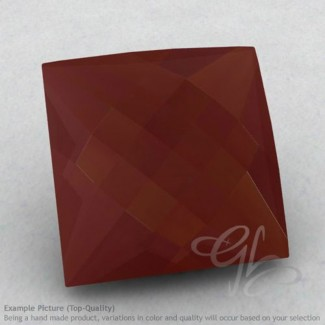 Red Onyx Square Shape Calibrated Briolettes