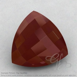 Red Onyx Trillion Shape Calibrated Briolettes