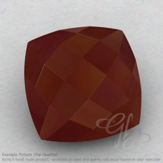 Red Onyx Square Cushion Shape Calibrated Briolettes