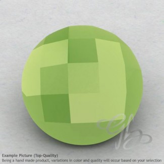 Lime Chalcedony Round Shape Calibrated Briolettes