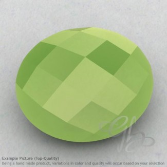 Lime Chalcedony Oval Shape Calibrated Briolettes
