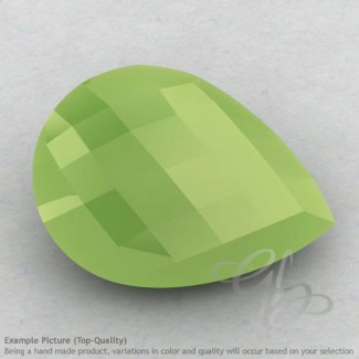 Lime Chalcedony Pear Shape Calibrated Briolettes
