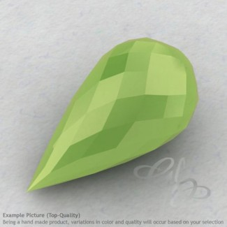 Lime Chalcedony Drops Shape Calibrated Briolettes