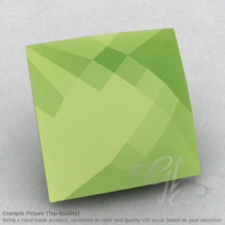 Lime Chalcedony Square Shape Calibrated Briolettes