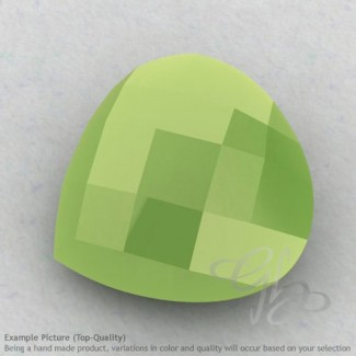 Lime Chalcedony Heart Shape Calibrated Briolettes