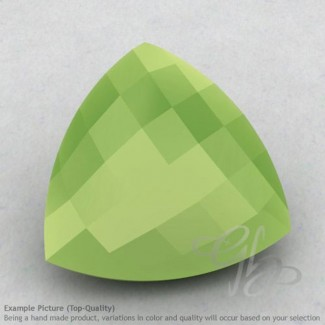 Lime Chalcedony Trillion Shape Calibrated Briolettes