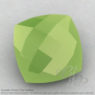 Lime Chalcedony Square Cushion Shape Calibrated Briolettes