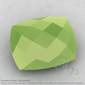 Lime Chalcedony Cushion Shape Calibrated Briolettes