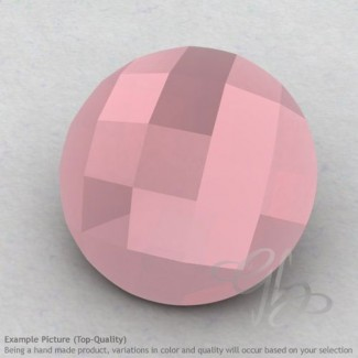 Pink Chalcedony Round Shape Calibrated Briolettes