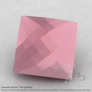 Pink Chalcedony Square Shape Calibrated Briolettes