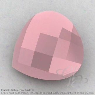 Pink Chalcedony Heart Shape Calibrated Briolettes