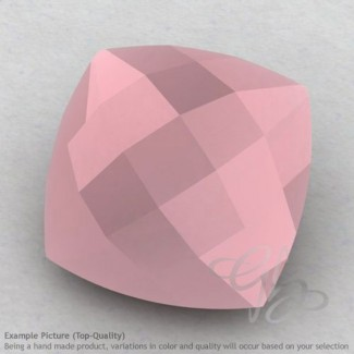 Pink Chalcedony Square Cushion Shape Calibrated Briolettes