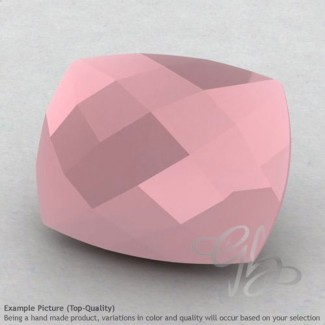 Pink Chalcedony Cushion Shape Calibrated Briolettes