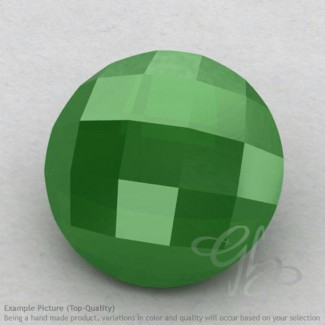 Natural Green Chalcedony Round Shape Calibrated Briolettes