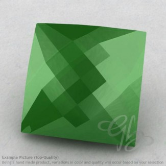 Natural Green Chalcedony Square Shape Calibrated Briolettes
