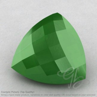 Natural Green Chalcedony Trillion Shape Calibrated Briolettes