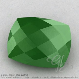 Natural Green Chalcedony Cushion Shape Calibrated Briolettes