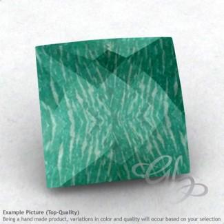 Amazonite Square Shape Calibrated Briolettes