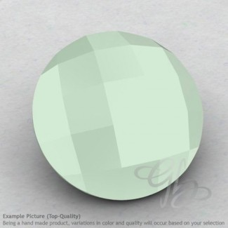 Aqua Chalcedony Round Shape Calibrated Briolettes
