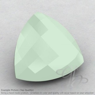 Aqua Chalcedony Trillion Shape Calibrated Briolettes