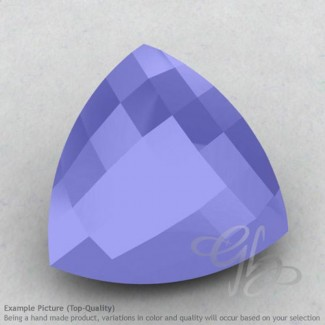 Blue Chalcedony Trillion Shape Calibrated Briolettes
