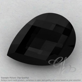 Black Onyx Pear Shape Calibrated Briolettes