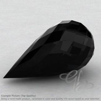 Black Onyx Drops Shape Calibrated Briolettes