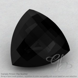 Black Onyx Trillion Shape Calibrated Briolettes