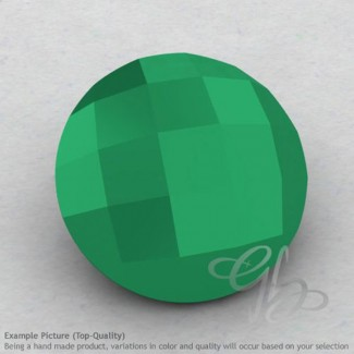 Green Onyx Round Shape Calibrated Briolettes