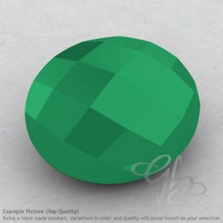 Green Onyx Oval Shape Calibrated Briolettes