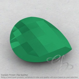 Green Onyx Pear Shape Calibrated Briolettes