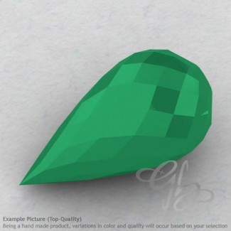 Green Onyx Drops Shape Calibrated Briolettes